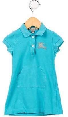 Burberry Girls' Short Sleeve Polo Dress