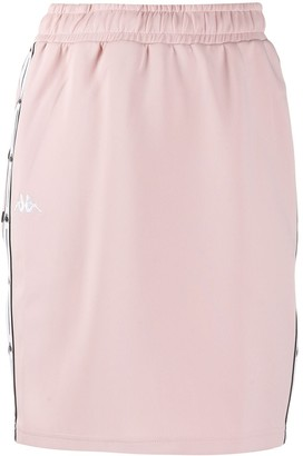 Kappa logo lined fitted skirt