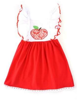 Honeydew Apple Embroidery Dress
