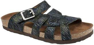 White Mountain Suede Leather Slide Sandals - Hickory
