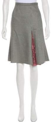 Dolce & Gabbana Houndstooth A-Line Skirt