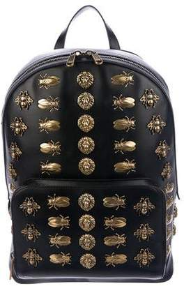 Gucci 2018 Leather Animal Studs Backpack