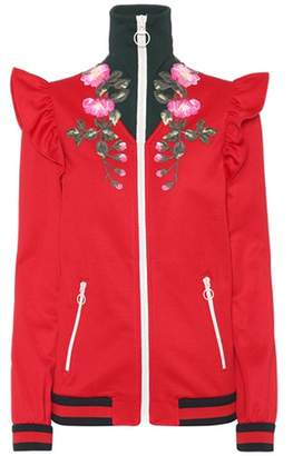 Gucci Cotton-blend bomber jacket with appliqué