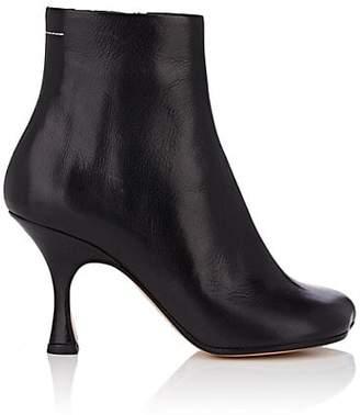 MM6 MAISON MARGIELA Women's Leather Ankle Boots - Black