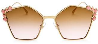 Fendi Women's Embellished Square Sunglasses, 57mm