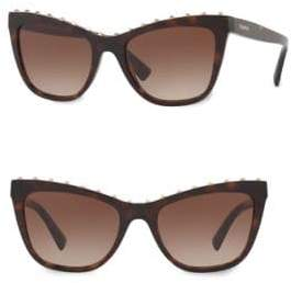 Valentino 54MM Rockstud Cat Eye Sunglasses