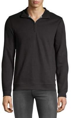Black & Brown Black Brown Quarter Zip Pullover