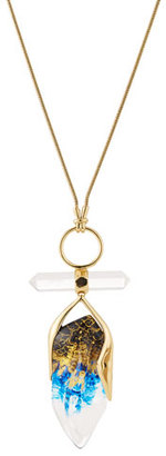Alexis Bittar Faceted Rock Crystal Pendant Necklace, Indigo/Ink/Clear $375 thestylecure.com