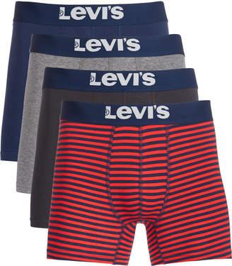 Levi's Men 4-Pk. Stretch Boxer Briefs