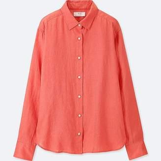 Uniqlo Women's Premium Linen Long-sleeve Shirt