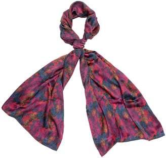Carousel Jewels - Autumn In Fuchsia Silk Scarf