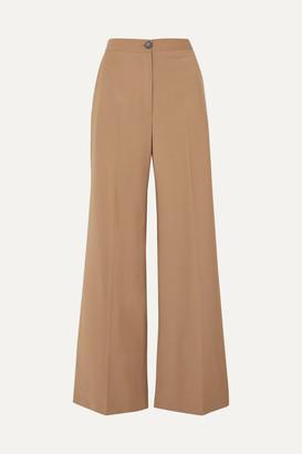 ALEXACHUNG Ludlow Wool-blend Wide-leg Pants - Camel