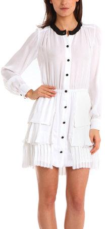 A.L.C. Cooper Shirt Dress in White