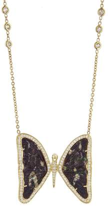 Jacquie Aiche Large Opal Butterfly Necklace