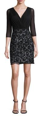 Laundry by Shelli Segal Sequined Shirred Dress $295 thestylecure.com