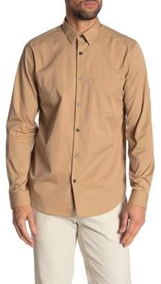 Theory Irving Crisp Long Sleeve Slim Fit Shirt