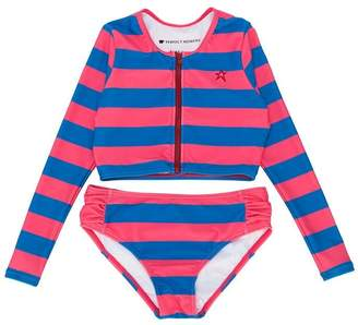 Perfect Moment Kids striped rash guard bikini