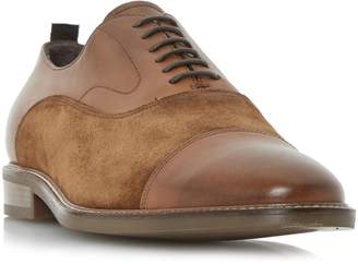 BERTIE MENS PRETENDER - Leather And Suede Toecap Detail Oxford Shoe