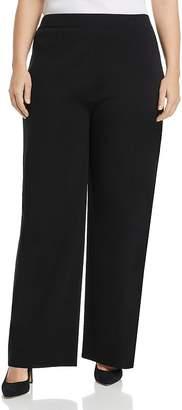 Misook Plus High-Rise Wide-Leg Pants