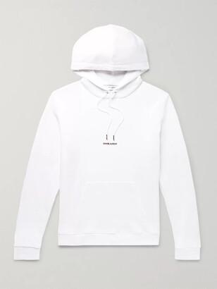 Saint Laurent Logo-Print Loopback Cotton-Jersey Hoodie - Men - White