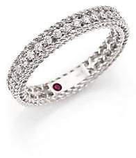 Roberto Coin Women's Symphony 0.43 TCW Diamond & 18K White Gold Ring
