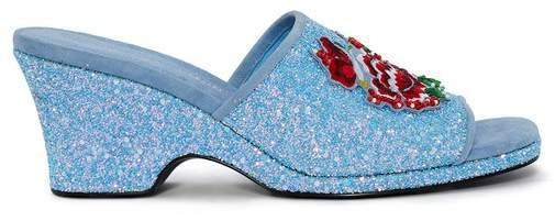 | Sally Glitter Slipper | Size 11 us | Postal blue