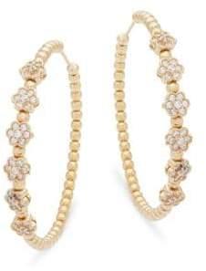 Cubic zirconia and Sterling Silver Hoop Earrings