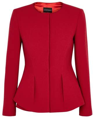 Emporio Armani Red Wool Crepe Jacket