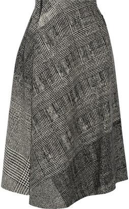 Jason Wu - Asymmetric Wool-jacquard Skirt - Black $1,495 thestylecure.com