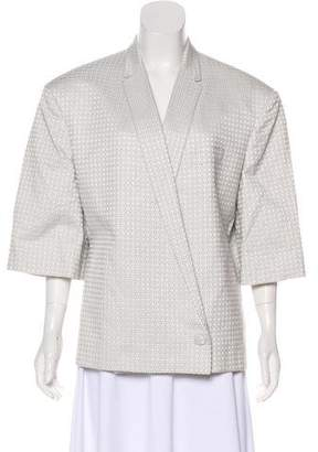 Stella McCartney Silk-Blend Short Sleeve Blazer
