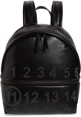 20b36b1c1aee Maison Margiela Medium Number Print Faux Leather Backpack