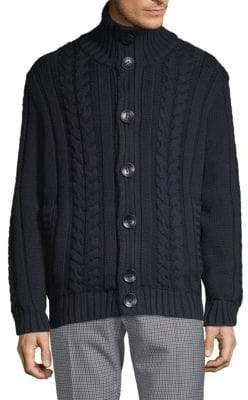 Paul & Shark Cable-Knit Wool Sweater