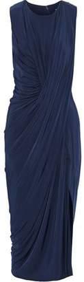 Jason Wu Draped Stretch-Jersey Midi Dress