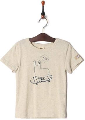 Kid's Pajama & More オートミール プリント半袖Tシャツ