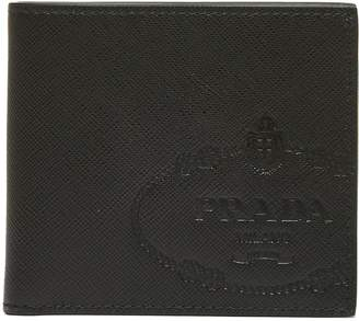 Prada Logo Embellished Wallet