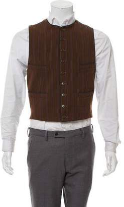 Paul Smith Pinstripe Woven Vest