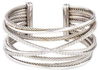 David Yurman Diamond Crossover Five-Row Cuff