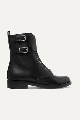 Gianvito Rossi La Garde Leather Boots - Black