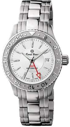"Ernst Benz Chrono Flite GMT Dual Time Zone"" Stainless Steel Mens Watch"