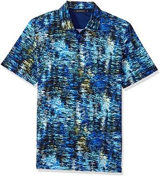 Bugatchi Men's Modern Trim Fit Stream Printed Polo Shirt