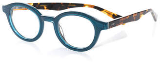 Eyebobs TV Party Round Two-Tone Readers, Blue/Tortoise
