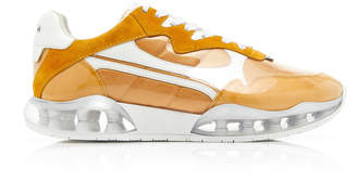 Alexander Wang Stadium Two-Tone Suede, Mesh And Rubber Sneakers Size: