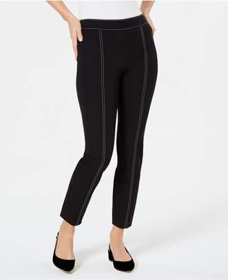 Alfani Contrast-Stitch Skinny Pants