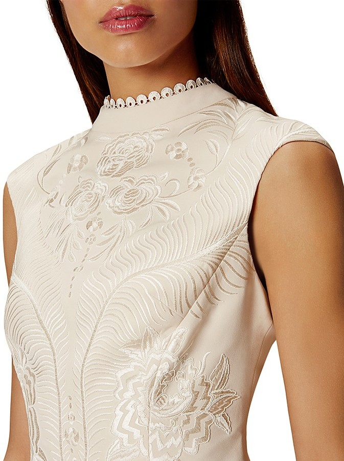 KAREN MILLEN Embroidered Sheath Dress 3
