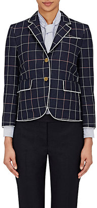 Thom Browne Women's Windowpane Checked Three-Button Jacket $2,100 thestylecure.com