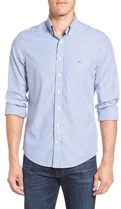 Men's Gant 'Banker' Extra Trim Fit Stripe Sport Shirt $98.50 thestylecure.com