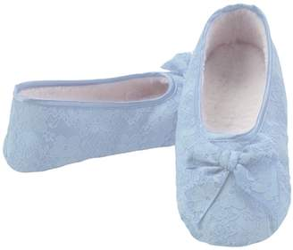 Snoozies Womens Cozy Non Skid Laced Up Ballet Slipper Socks - , Extra-Large