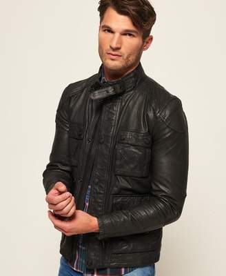 Superdry Rotor Leather 4 Pocket Jacket
