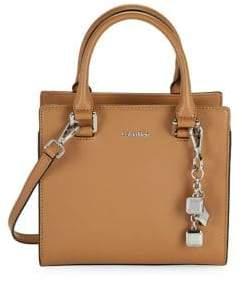 Calvin Klein Saffino Leather Crossbody Satchel