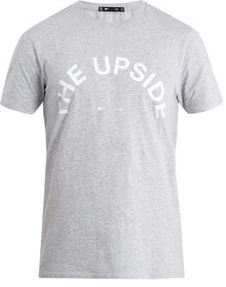 The Upside Big Logo crew-neck cotton T-shirt